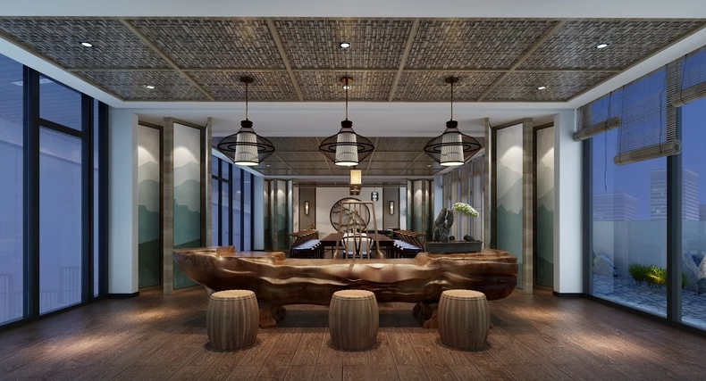 缘文化古典风格的茶艺室